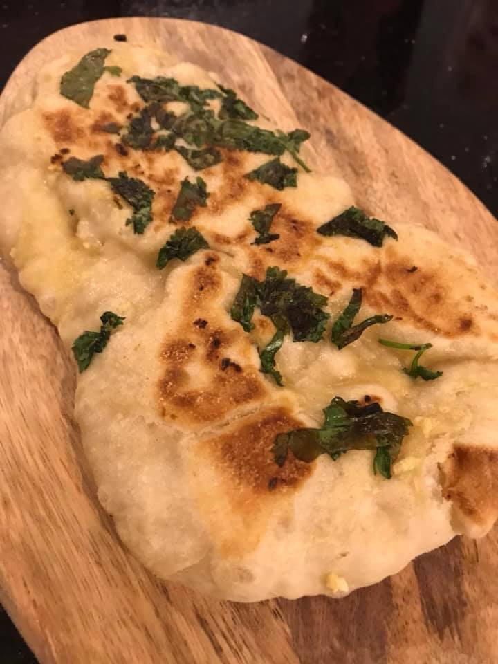 Vegan garlic-and-coriander-naan-bread/www.houseofherbivores.co.uk